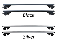 Black or Silver Adjustable Lockable Cross Bar Set