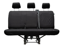 Vivaro/Trafic 14-16 2nd Row 2+1 Solid Triple Base Seat Cover
