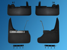 Mud Flaps, Complete Set of 4, Front & Rear Set T6 Twin Door 15>