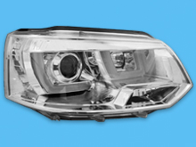 VW T5 LED Type-RS DRL Performance Headlamp 2010-15 Chrome