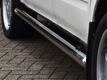 70mm Polished Stainless Steel Side Bars - Transit Mk6/7 SWB FWD