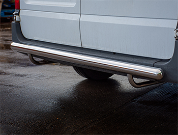70MM Stainless Steel Rear Bash Bar - Ford Transit MK6 & MK7 FWD
