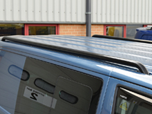 Stainless Steel Black Roof Rails - Vivaro & Trafic 14>