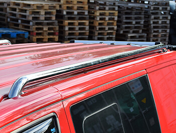 Polished Stainless Steel Roof Rail Set - VW T5 T6