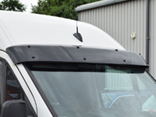 Black Acrylic High Impact Sun Visor - VW T5 03-15 & T6 15>