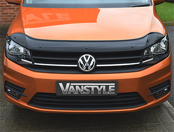 VW Caddy & Maxi 2015> Black Bonnet Wind Deflector