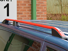 VW T5 & T6 'Red Edition' Aluminium Roof Bars