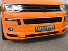 VW T5 10-15 ABS ABT Style Front Bumper Spoiler