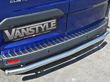 Transit Custom 'Brushed' Stainless Steel Rear Bumper Protector