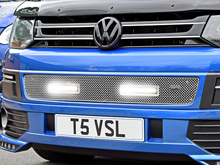 Vanstyle Sport Polished Lower DRL Mesh Grille VW T5 2010-15