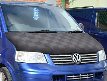 VW T5 2003-2009 - Full Length Bonnet Bra - Chequered