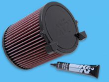 K&N Replacement Air Filter - VW Caddy 2009-15
