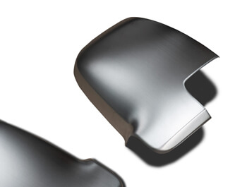 Brushed Silver Wing Mirror Covers - MB Sprinter 2018>