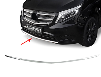 Mercedes Vito W447 Polished S.Steel Front Lower Bumper Trim 14>