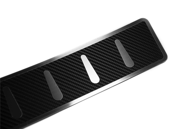 Carbon Foiled Stainless Steel Rear Bumper Protector - VW T5