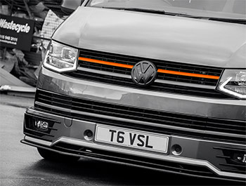 Orange Edition 2-Piece - Front Grille Upper Trim - VW T6 2015>