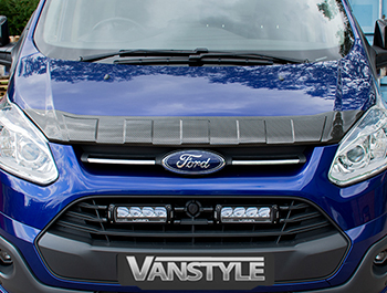 Ridged Bonnet Protector ABS Carbon Fibre Effect- Custom 2012-17