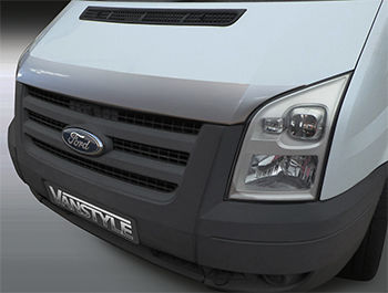 Silver ABS Bonnet Protector - Ford Transit MK7 2007-2013.