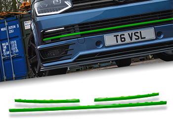 Gloss Green ABS Lower Grille Trim Insert Set - VW T6 15-19