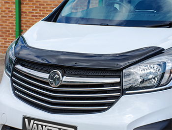 Black ABS Bonnet Deflector - Talento Vivaro NV300