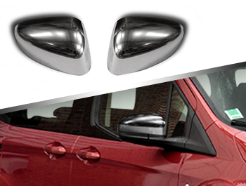 ABS Chrome Satin Wing Mirror Covers - Ford Tourneo Courier 14-18