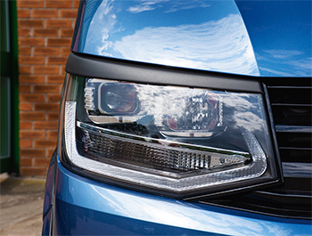 ABS Front Headlight Brows Textured Black  - VW T6 2015>