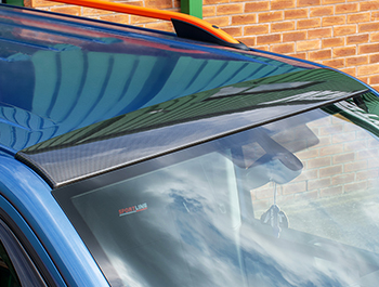 ABS Front Roof Guard Protector Carbon Fibre Effect - VW T5 T6