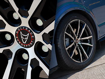 "Wolfrace Dortmund Black & Polished 19"" T5 T6 Wheels & Tyres"