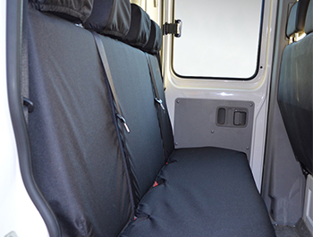 100% Waterproof Black Quad Seat Rear Covers Sprinter W907 18>