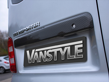 ABS Twin Door Rear Grab Handle Cover Carbon Effect - VW T5 T6