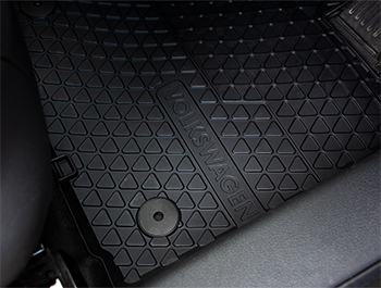 Genuine VW OE Front Heavy Duty Rubber Mats - Caddy MK3 & MK4