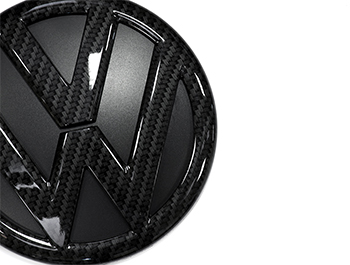 VW Replacement Rear Carbon Fibre Effect Badge - VW T5/T6/Caddy