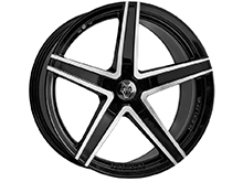 Wolfrace Entourage Black & Polished 18x8.5 5x120 VW T5 T6