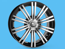 SR1200 Wheel 17x7.5 Black Diamond 5x108 Transit Connect