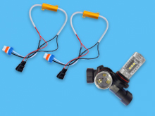 LED 9006 HB4 Replacement Bulb + Canbus Free Error Resistors