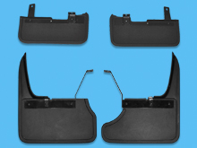 Mud Flaps, Complete Set of 4, Front & Rear T6 Tailgate 2015>