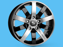 5+5 Black Diamond 17x7.5 5x118 Alloy Wheels Vivaro Trafic