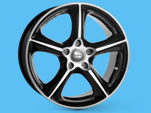 SR1000 Black Diamond 18x8 5x120 VW T5 T6 Alloy Wheels