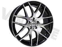 "Calibre Exile-R Black & Polished 18"" VW T5 T6 Alloy Wheels"