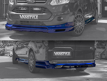 Transit Custom 2012-18 Front Splitter, Side Skirts & Rear Skirt