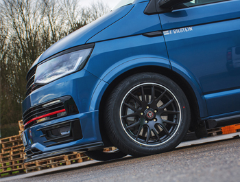 "Wolfrace Munich 18"" Matte Black & Polished Lip - VW T5/T6 W&T"