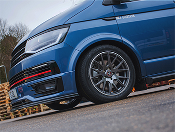"Wolfrace Munich 18"" Gunmetal & Polished Lip - VW T5/T6 W&T"