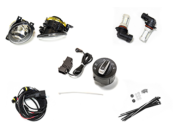 Fog Light, Auto Headlight Upgrade Kit No Panels - VW T5 2010-15