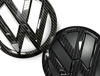 VW Replacement Front & Rear Carbon Fibre Effect Badge T6