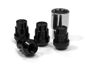 Vanstyle Custom Black Closed-Ended Locking Wheel Nuts - Set of 4