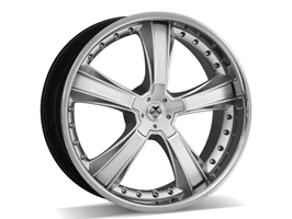"Wolfrace Wolf RR Silver 22x9.5"" 5x120 VW T5 T6 Wheel Package"