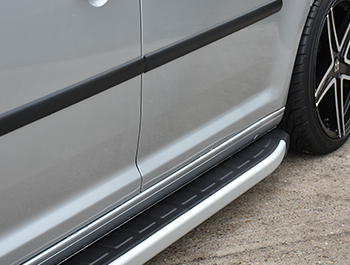 Clumber Style Aluminium Side Steps - Citroen Berlingo SWB 08>18