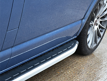 Clumber Style Aluminium Side Steps - Citroen Relay LWB 07>14