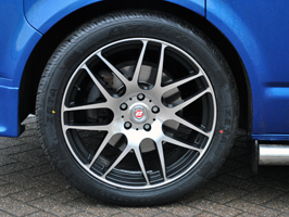 "Calibre Exile Black / Polished 18"" VW T5 Wheel & Tyre Package"