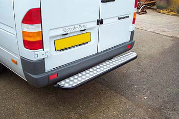Rear Step Tube Bumper Sprinter LT 1995-06 MWB and LWB Single Axl